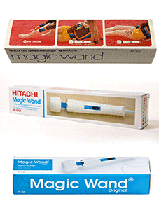 Hitachi Magic Wand verpakkingen.